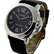 Panerai PAM 00112 PAM 112 - Luminor Base in Steel - on Black...