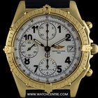 Breitling 18k Yellow Gold White Dial Chronomat Gents Watch...