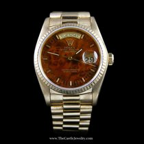 Rolex Presidential Day-Date Rolex Watch w/ Burled Wood Dial
