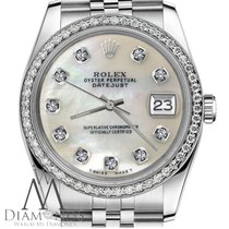 Rolex 36mm Lady Datejust White Mop Mother Of Pearl Diamond...