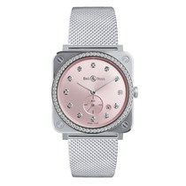 Bell & Ross Ladies BRS-PK-ST-LGD/SST Novarosa Full Diamonds