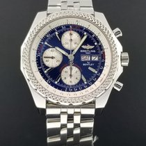 Breitling For Bentley GT Chronograph Day Date Steel 45mm Blue...