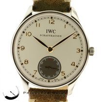 IWC Portuguese Steel Hand Wound  Iw545404  44mm Mens Watch W/...