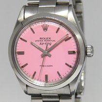 Rolex Vintage Air-King Steel Pink Dial 34mm Mens Automatic...