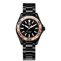 TAG Heuer Aquaracer Quartz Ceramic Black Dial Ladies Watch...