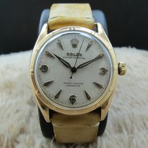 Rolex SEMI-BUBBLEBACK 6085 18K Rose Gold with Honeycomb Dial