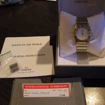 Omega Constellation, 18 kt gold/steel Box/Papers, serviced