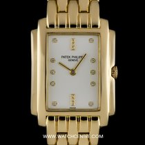 Patek Philippe 18k Yellow Gold White Diamond Dial Ladies...