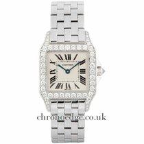 Cartier Santos Demoiselle 18ct White Gold Diamond WF9004Y8