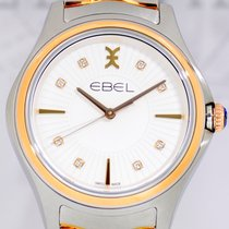 Ebel Wave Grande Lady Diamond Dial Bezel Rosé Gold NEU B+P 35mm