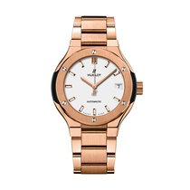 Hublot Classic Fusion 33mm Automatic 18K King Gold Mens Watch...