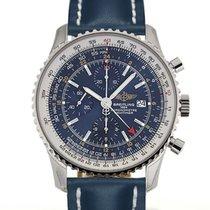 Breitling Navitimer World 46 Chronograph Blue Dial Blue...