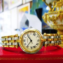 Cartier Panther Panthere 18k Gold Stainless Steel Roman Round...