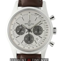 Breitling Transocean 01 Chronograph Steel 43mm Silver Dial On...