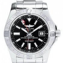 Breitling Avenger II GMT Black Dial Steel Automatic Men Watch...