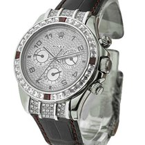 Rolex Used 116519 Custom Daytona with Square Cut Diamond and...