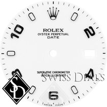Rolex Date White Luminous Index Hour Markers and Arabic...