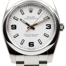 Rolex Oyster Perpetual 114200-WHTADO 34mm White Arabic Domed...