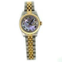 Rolex Lady Datejust 26mm 179173 Black Mother of Pearl Roman Dial