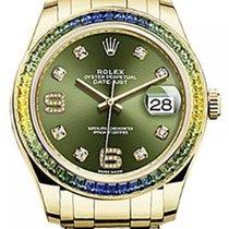 Ρολεξ (Rolex) Pearlmaster 39 86348SABLV Olive Green Diamond...