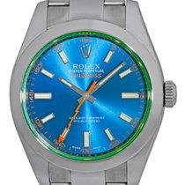 "Rolex ""Blue Milgauss"" Anti-Magnetic Timepiece."