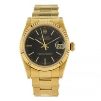 Rolex Midsize DateJust 68278 18K Yellow Gold