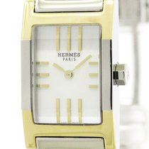 Hermès Polished Hermes Tandem Mop Dial Gold Plated Steel...