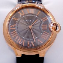 Cartier Ballon Bleu W6920089 40mm 18k Rose Gold Gray Guilloché...