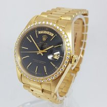 Rolex Day-Date Diamond Mens 36mm 18K Yellow Gold Watch