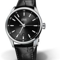 Oris CULTURA ARTIX DATE Steel-Black Dial & Black Leather...