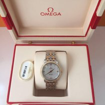 Omega De Ville Prestige Gold Steel Diamonds MOP