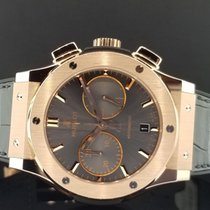 Hublot Classic Fusion 45mm Grey Chronograph 18k Rose King Gold...