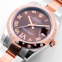 Rolex 31mm RG/SS Midsize Choco Diam Dial & 24 Diam Bezel