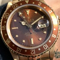 Rolex GMT-MASTER 16758 Brown Tiger Eye Nipple Dial Gold 18kt