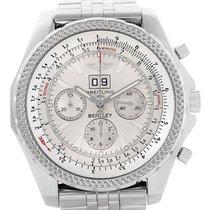 Breitling Bentley Motors Chrono Silver Dial Steel Mens Watch...