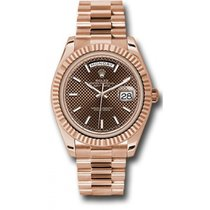 Rolex Day-Date 40 228235 18K Everose Gold 40MM Chocolate...