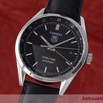 TAG Heuer Carrera Twin Time Edelstahl Automatik Wv2115-0...