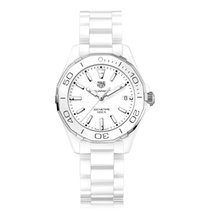 TAG Heuer Aquaracer Quartz Ceramic White Dial Ladies Watch...