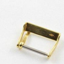 Neutrale Leder Armband Dornschliesse 18mm 18k 750 Gold