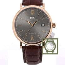 IWC Portofino Automatic 18kt Pink Gold Grey Dial 40mm NEW