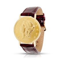 Juvenia Twenty Dollar U.S. Coin Men's Watch in 18K Yellow Gold