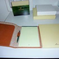 Rolex Set - Notizbuch Mappe Kugelschreiber  Leather Block