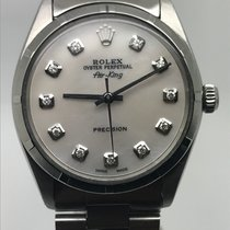 Rolex AIRKING 34MM AUTOMATIC WHITE MOP DIAMONDS DIAL