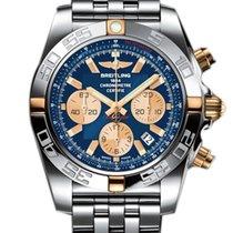 ブライトリング (Breitling) Chronomat 44 Chronograph Blue Dial Steel...