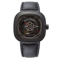 Sevenfriday Industrial Engines Automatic Black Dial Black Rubber