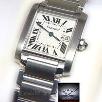 Cartier Tank Francaise Stainless Steel Quartz Ladies Midsize...