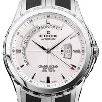 依度 (Edox) Grand Ocean Day Date Steel Black Diverband 45 mm (2014)