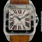 Cartier Santos 100 Xl Platinum Paris Boutique Automatic Box...