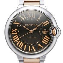 Cartier Ballon Bleu de Cartier Edelstahl / 18 kt Gelbgold...