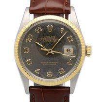 Rolex Oyster Datejust Gold Steel Black Jubilee Dial 36 mm (1984)